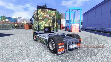 Skin Tarnmuster for DAF XF tractor unit for Euro Truck Simulator 2