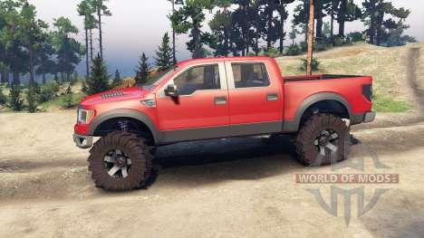 Ford Raptor SVT v1.2 red-gray for Spin Tires
