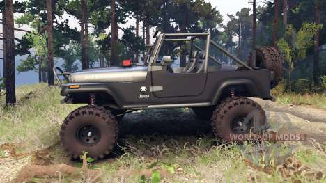 Jeep YJ 1987 Open Top gray for Spin Tires