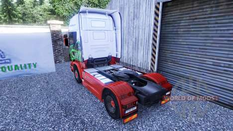 Skin Eddie Stobart on the tractor unit Scania for Euro Truck Simulator 2