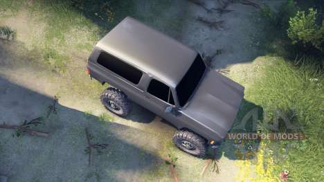 Chevrolet K5 Blazer 1975 v2.5 grey for Spin Tires