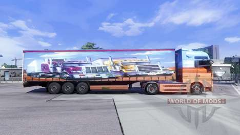 Skin Showtruck on the truck MAN for Euro Truck Simulator 2
