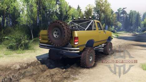 Dodge Ramcharger 1991 Open Top v1.1 olive green for Spin Tires