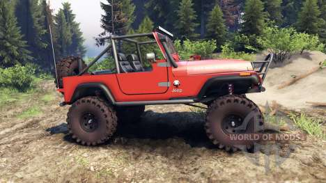 Jeep YJ 1987 Open Top orange for Spin Tires