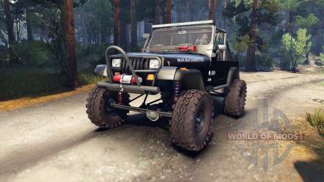 Jeep YJ 1987 Open Top black for Spin Tires