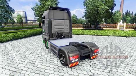 Skin TimberWolves on the truck MAN for Euro Truck Simulator 2