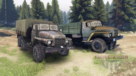 Ural-375 and 4320-01 for Spin Tires