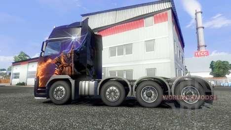 Volvo FH16 8x4 v2.0 super control for Euro Truck Simulator 2