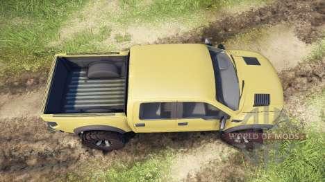 Ford Raptor SVT v1.2 olive for Spin Tires