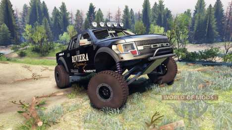 Ford Raptor Pre-Runner v1.1 riviera for Spin Tires