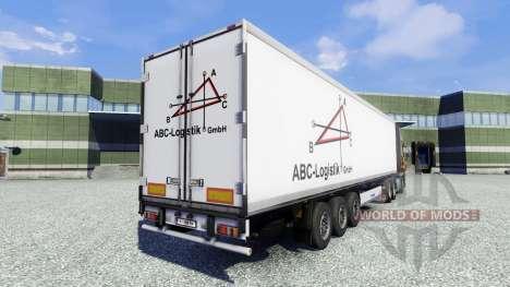 Skin ABC Logistic semitrailer for Euro Truck Simulator 2