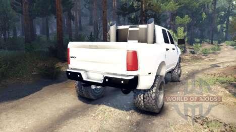 Dodge Ram 3500 dually v1.1 white for Spin Tires