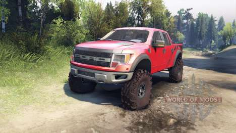 Ford Raptor SVT v1.2 factory sunset red for Spin Tires