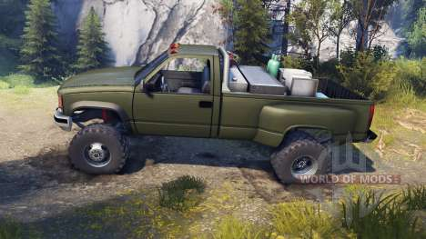 Chevrolet Regular Cab Dually green for Spin Tires