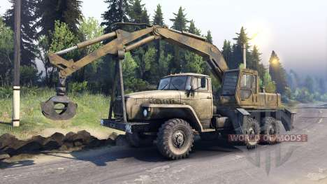 Ural-4320 with new loaders for Spin Tires
