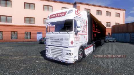 Skin Patrick Vogtt for DAF XF tractor unit for Euro Truck Simulator 2