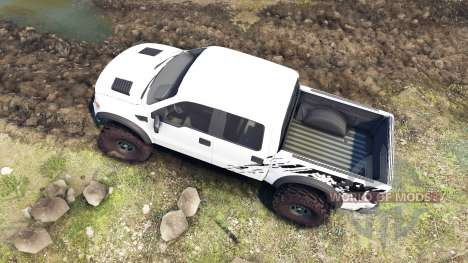 Ford Raptor SVT v1.2 factory white for Spin Tires