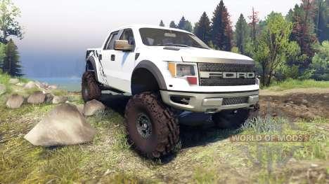 Ford Raptor SVT v1.2 factory white for Spin Tires
