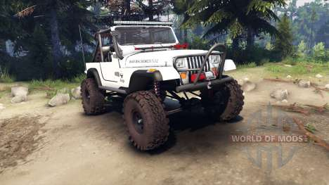 Jeep YJ 1987 Open Top white for Spin Tires