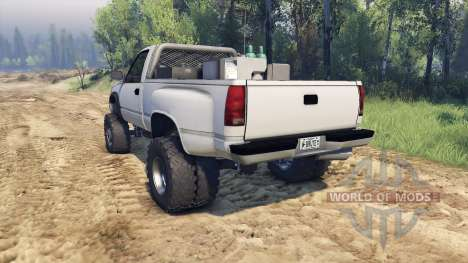 Chevrolet Regular Cab Dually white for Spin Tires