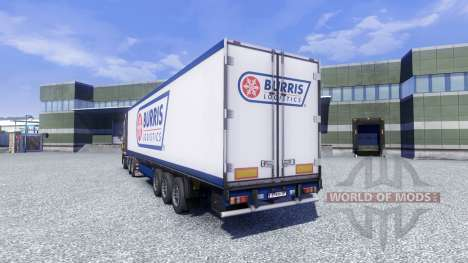 Skin Burris Logistics on the trailer for Euro Truck Simulator 2