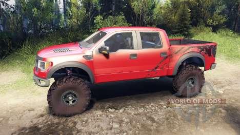 Ford Raptor SVT v1.2 factory sunset red for Spin Tires
