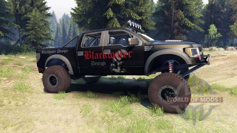 Ford Raptor Pre-Runner v1.1 blackwater for Spin Tires