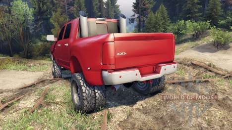 Dodge Ram 3500 dually v1.1 red for Spin Tires