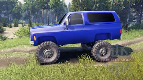 Chevrolet K5 Blazer 1975 v2.5 blue for Spin Tires