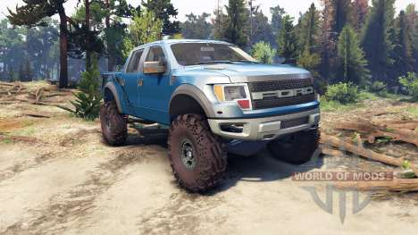 Ford Raptor SVT v1.2 factory blue flame for Spin Tires
