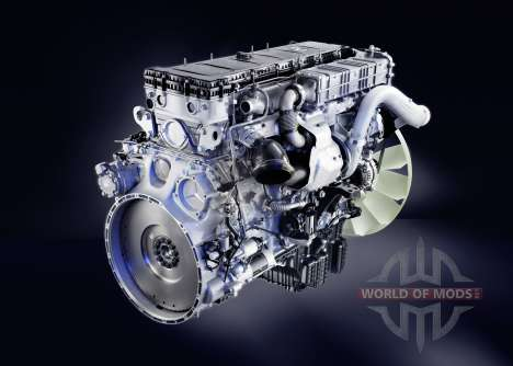 The sound of the diesel engine Mercedes-Benz Act for Euro Truck Simulator 2