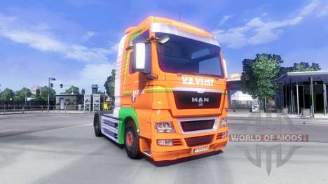 Skin Van Der Vlist on the truck MAN for Euro Truck Simulator 2