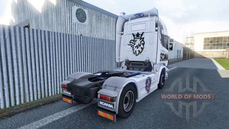 The Scania V8 skin for Scania truck for Euro Truck Simulator 2