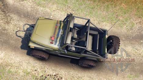 Jeep YJ 1987 Open Top green for Spin Tires