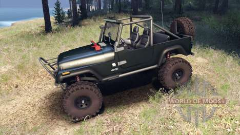 Jeep YJ 1987 Open Top dark green for Spin Tires