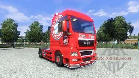 Skin FC Bayern Munchen on the truck MAN for Euro Truck Simulator 2