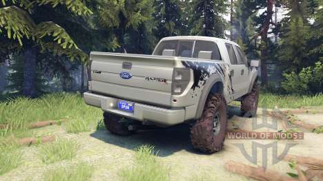 Ford Raptor SVT v1.2 factory ignot silver for Spin Tires