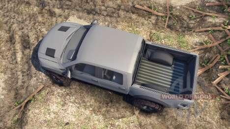Ford Raptor SVT v1.2 matte gray for Spin Tires