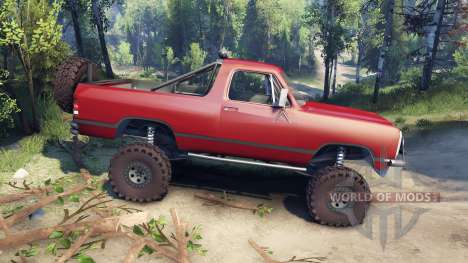 Dodge Ramcharger 1991 Open Top v1.1 blood red for Spin Tires