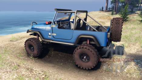 Jeep YJ 1987 Open Top blue for Spin Tires