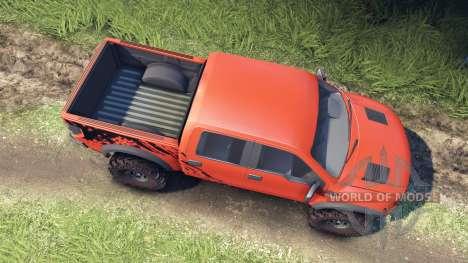 Ford Raptor SVT v1.2 factory comp orange for Spin Tires