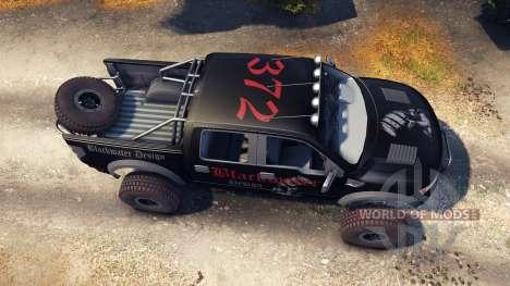 Ford Raptor Pre-Runner blackwater for Spin Tires