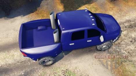 Dodge Ram 3500 dually v1.1 blue for Spin Tires