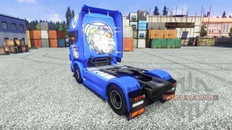 Skin V8 Topline on the tractor unit Scania for Euro Truck Simulator 2