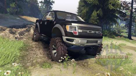 Ford Raptor SVT v1.2 matte black for Spin Tires