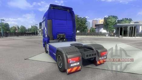 The skin Hamburg fahrt MAN on the truck MAN for Euro Truck Simulator 2
