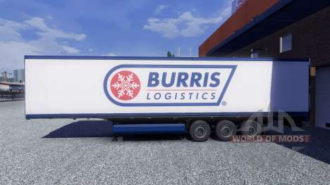 Skin Burris Logistics on the trailer for Euro Truck Simulator 2