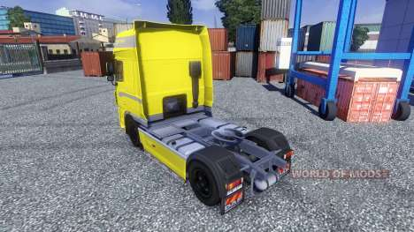 Skin Yellow Edition for DAF XF tractor unit for Euro Truck Simulator 2