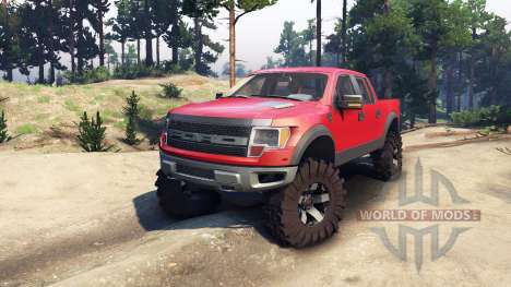 Ford Raptor SVT v1.2 red-gray for Spin Tires