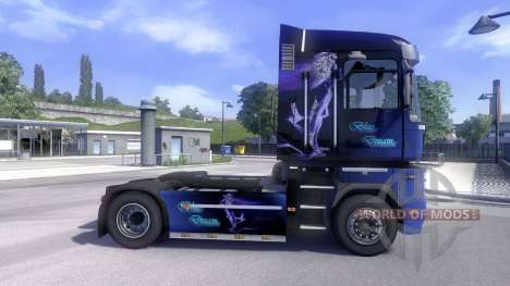 Skin Blue Dream on the tractor unit Renault Magn for Euro Truck Simulator 2